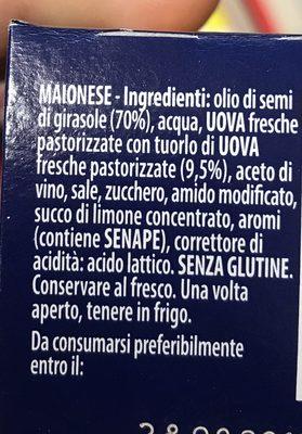 Mayonnaise - Ingredienti