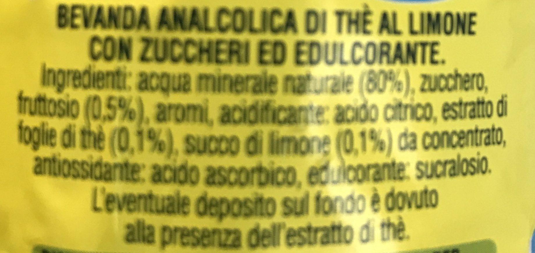Thè San Benedetto Limone - Ingrediënten - fr