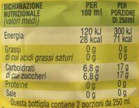 Thè San Benedetto Limone - Voedingswaarden - fr