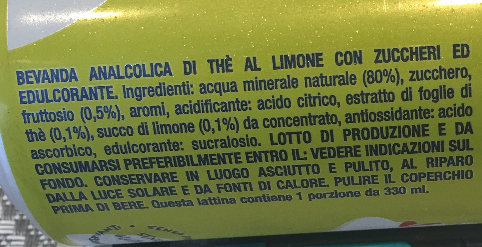 Thé Limone - Ingredienti
