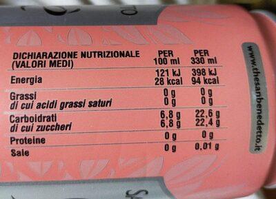 Thé glacé - Voedingswaarden - fr
