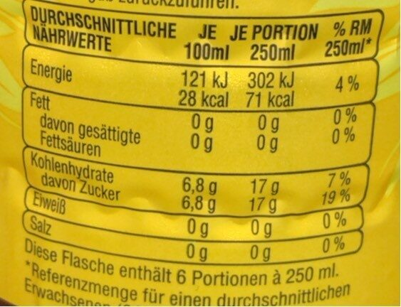 The eistee - Valori nutrizionali - de