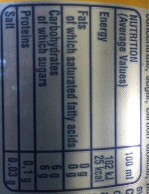 Prima Spremitura Limone - Nutrition facts
