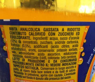 Aranciata - Ingredients