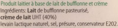 Stracciatella di bufala - Ingrediënten - fr