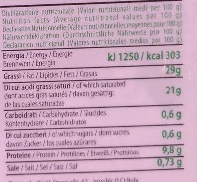 Stracciatella di bufala - Voedingswaarden - fr
