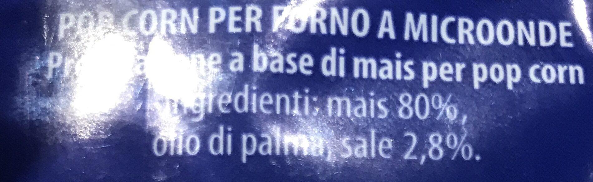 Unibeverage Pop Corn Microonde GR 100 - Ingredienti - it