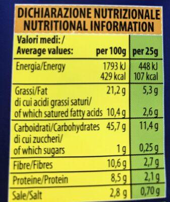 Unibeverage Pop Corn Microonde GR 100 - Informazioni nutrizionali - it