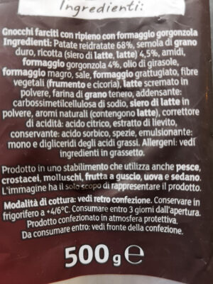 Gnocchi ripieni al Gorgonzola - Ingrédients - fr