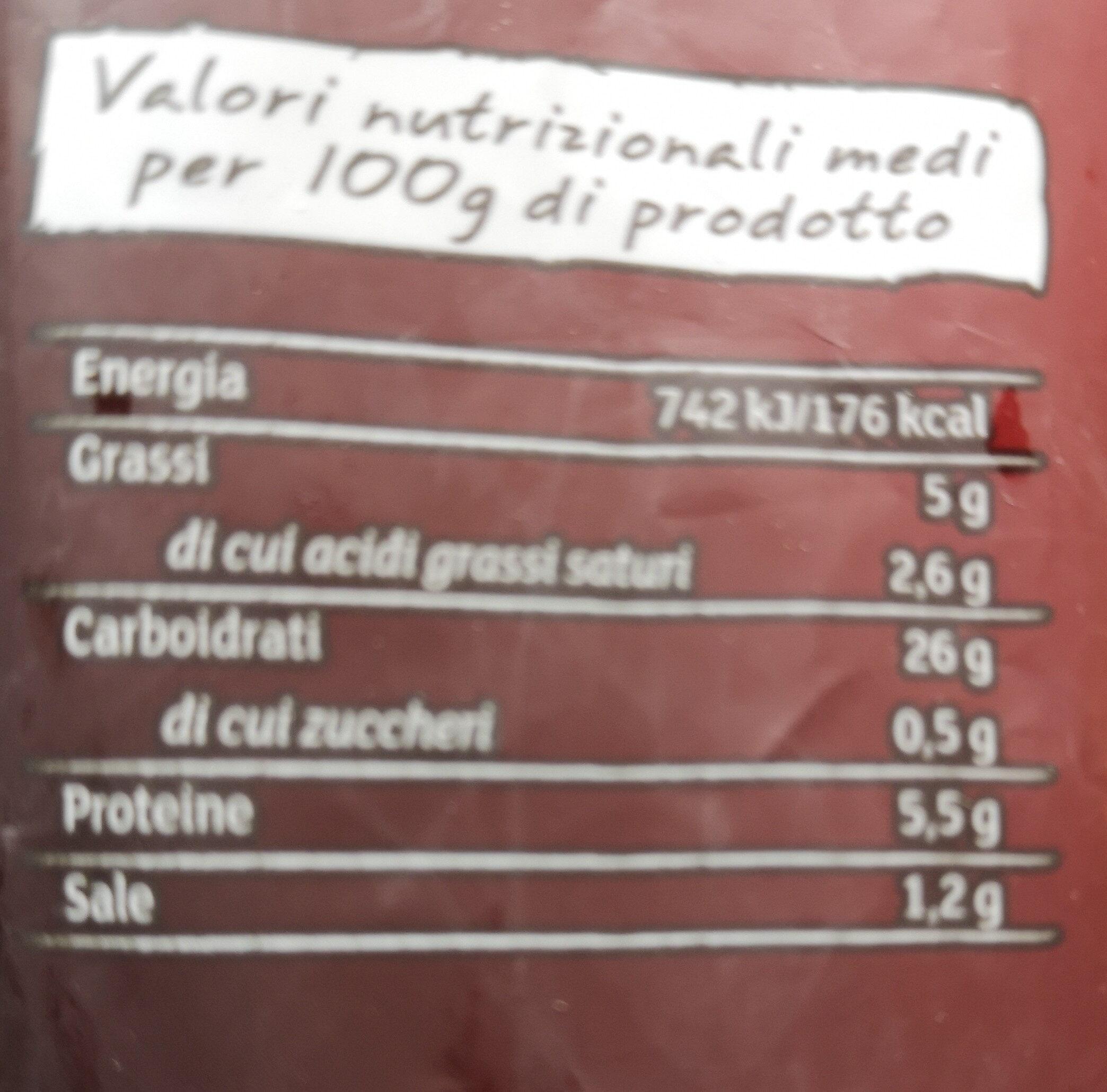 Gnocchi ripieni al Gorgonzola - Informations nutritionnelles - fr
