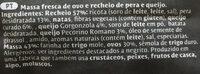 Giovanni Rana Ravioli Amb Farcit De Crema De Formatge Amb Pera - Ingrediënten