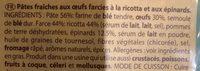 Rana - Ingrediënten - fr
