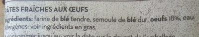 Pasta per Lasagne - Ingredients