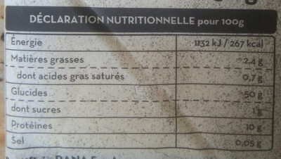 Pasta per Lasagne - Nutrition facts