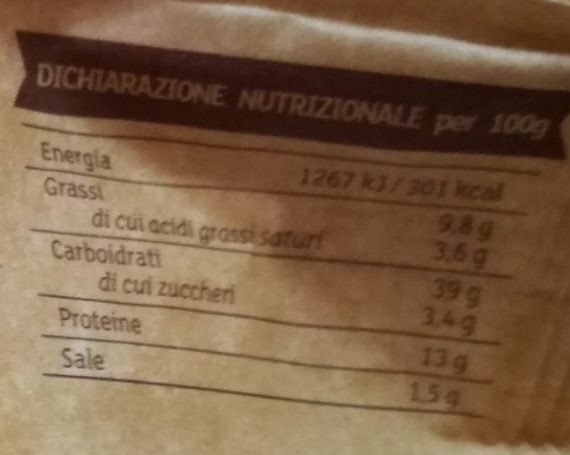 Tortellini di carne Rustici - Informations nutritionnelles - it