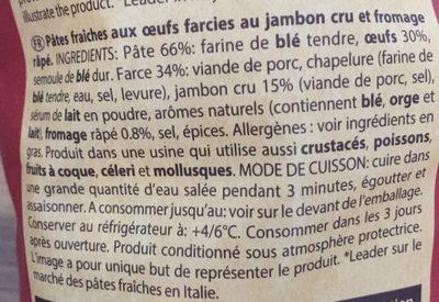 Cappelletti prosciutto crudo - Ingrédients - fr