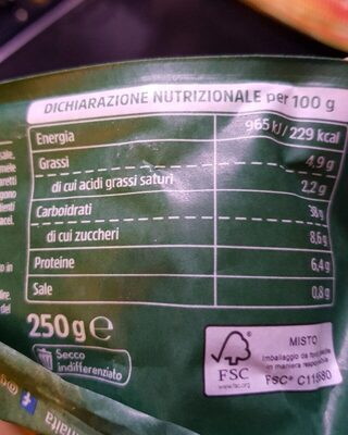 Gioiaverde zucca - Informations nutritionnelles - it