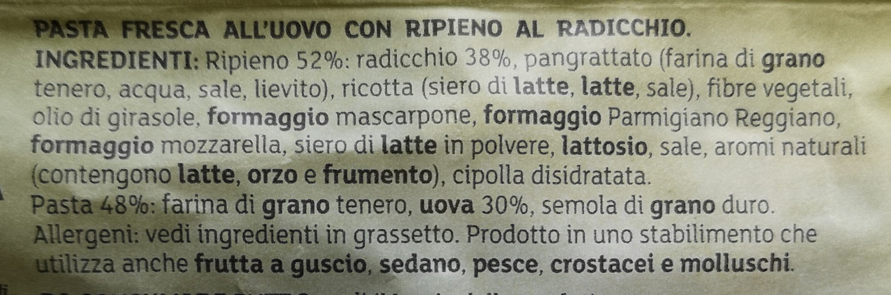 Gioia Verde Radicchio - Ingredients - it