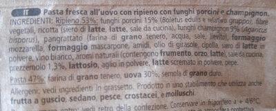 Ravioli Funghi Porcini mit Steinpilzen - Ingredienti - it