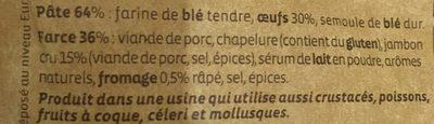 Cappelletti Jambon Cru - Ingrediënten - fr