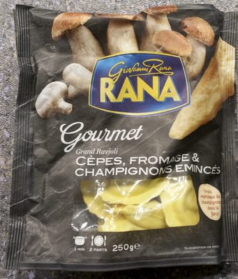 Gourmet - Grand ravioli Cèpes, Fromage & Champignons Émincés - Product - fr