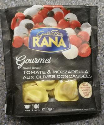 Grand Ravioli Tomates et Mozzarella aux Olives Concassées - Produit - fr
