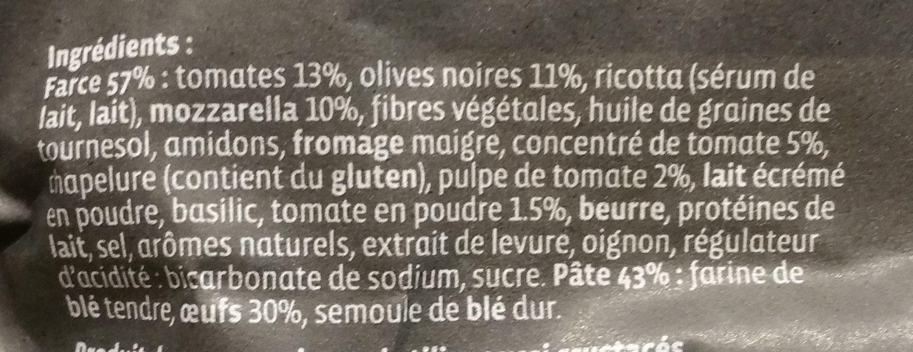 Grand Ravioli Tomates et Mozzarella aux Olives Concassées - Ingrédients - fr