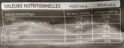 Grand Ravioli Tomates et Mozzarella aux Olives Concassées - Informations nutritionnelles - fr