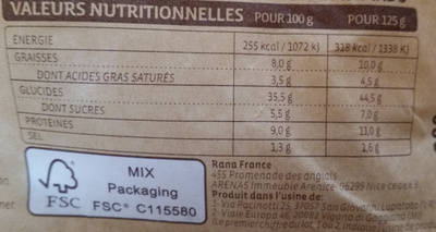 Tortellini Ricotta & Epinards +20% gratuit - Nutrition facts - fr