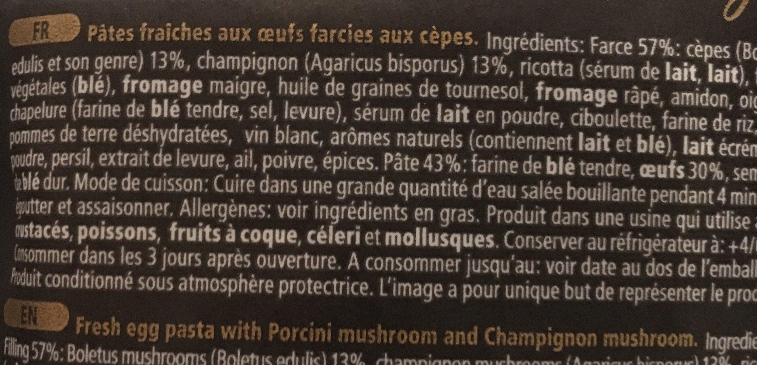 Girasoli Con Funghi Porcini - Ingrédients