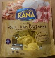 Ravioli Poulet à la paysanne Mozarella & Bacon - Produit