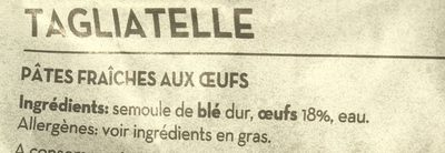 Tagliatelle - Ingredients - fr