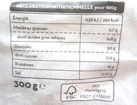Tagliatelle - Nutrition facts - fr