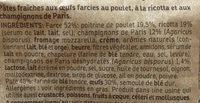 Ravioli Champignons De Paris & Ricotta - Ingredients