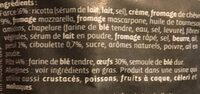 Gourmet Grand Ravioli Chèvre Fines Herbes - Ingrediënten