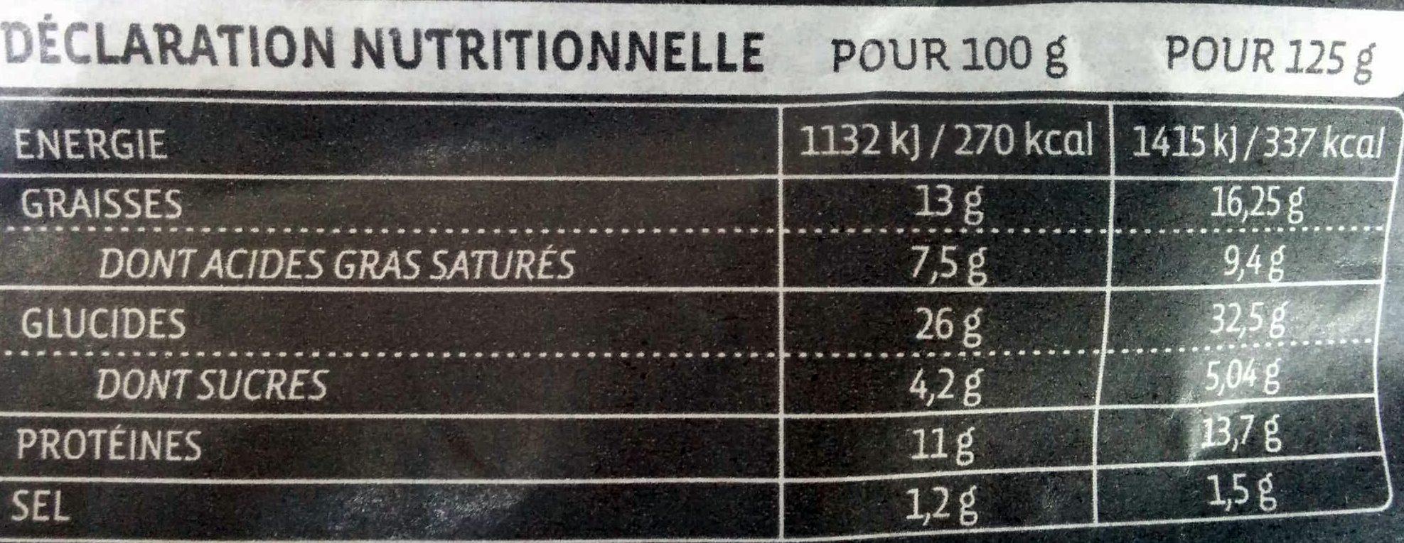 Gourmet Grand Ravioli Chèvre Fines Herbes - Voedigswaarden