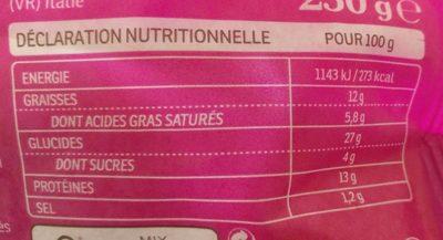 Tortellini Poulet au curry & Eclats d'amandes - Informations nutritionnelles - fr