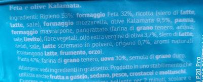 Feta e olive Kalamata - Ingredienti