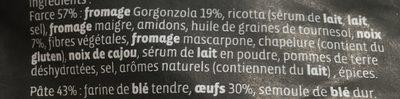 Grand ravioli gorgonzola aux éclats de noix - Ingrédients