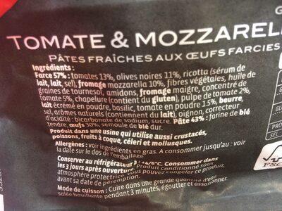 Grand ravioli - Ingrédients - fr