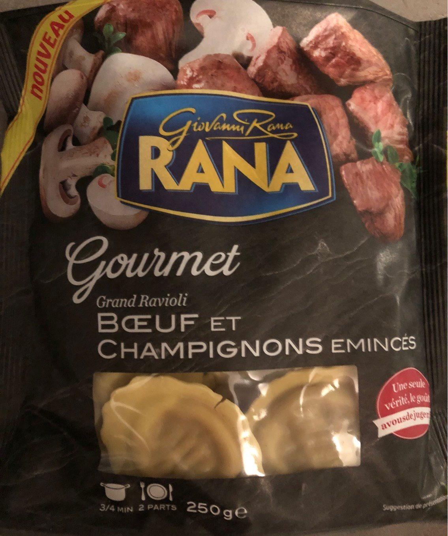 Ravioli boeuf et champignons emincés - Produit - fr
