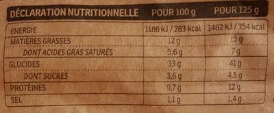 Tortellini Ricotta & Épinards - Informations nutritionnelles - fr