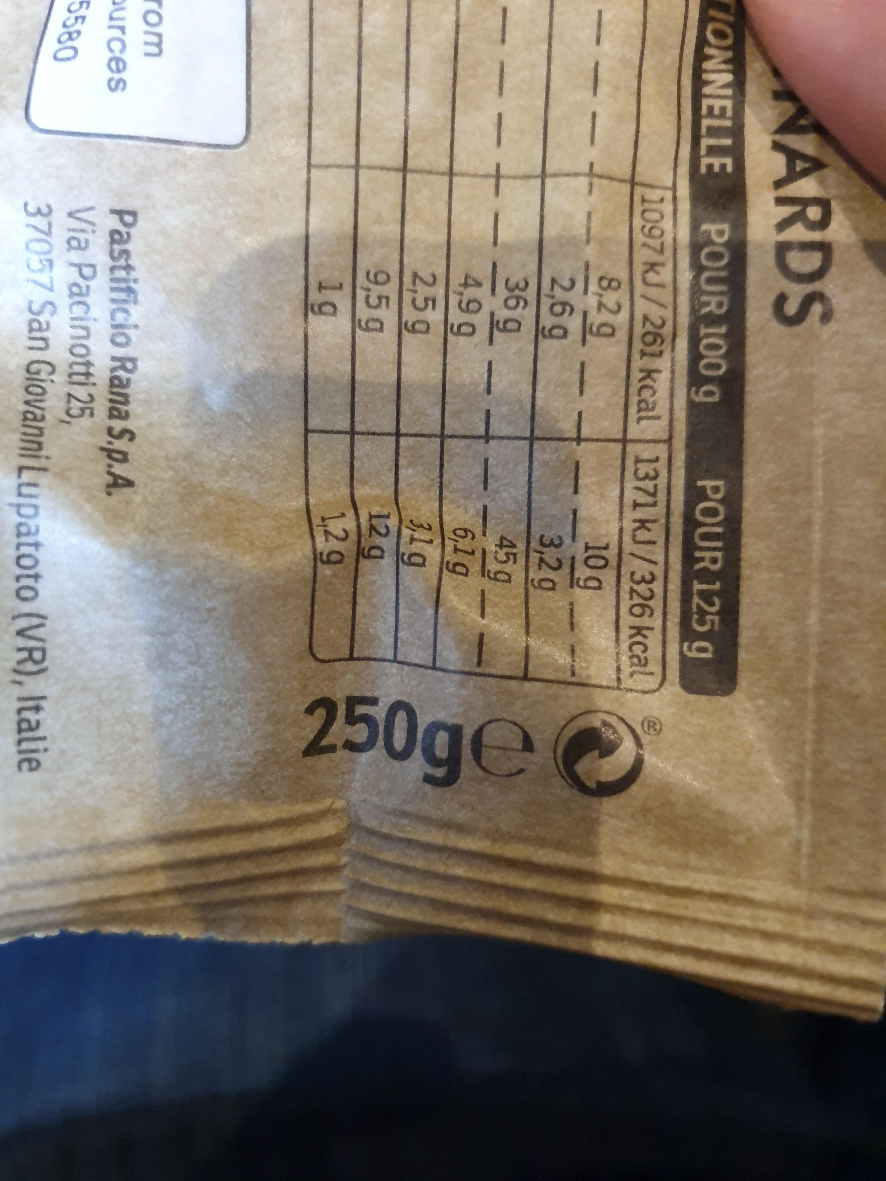 Tortellini ricotta et épinards - Instrucciones de reciclaje y/o información de embalaje - fr