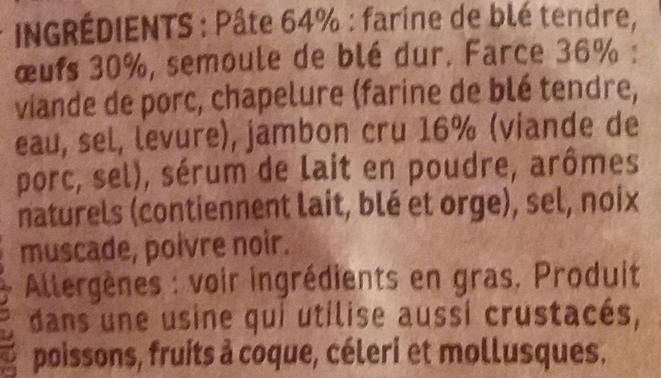 Cappelletti Jambon Cru - Ingredientes - fr