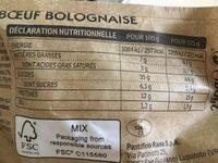 Tortellini Boeuf Bolognaise - Informations nutritionnelles - fr