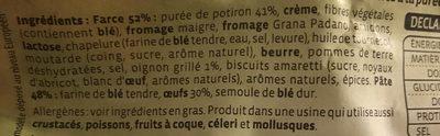 Raviolis potiron & petits oignons grillés - Ingrédients - fr