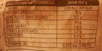 Pâtes Bio au Blé Complet Epinards, Ricotta et Fromage Burrata - Informations nutritionnelles - fr