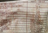 Pâtes Bio au Blé complet Crème de Pois Chiches et Brocoli - Nutrition facts - fr