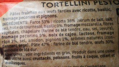 Tortellini pesto basilic  & pignons - Ingredients - fr