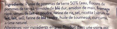 Gnocchi à poêler tradition - Ingrédients - fr